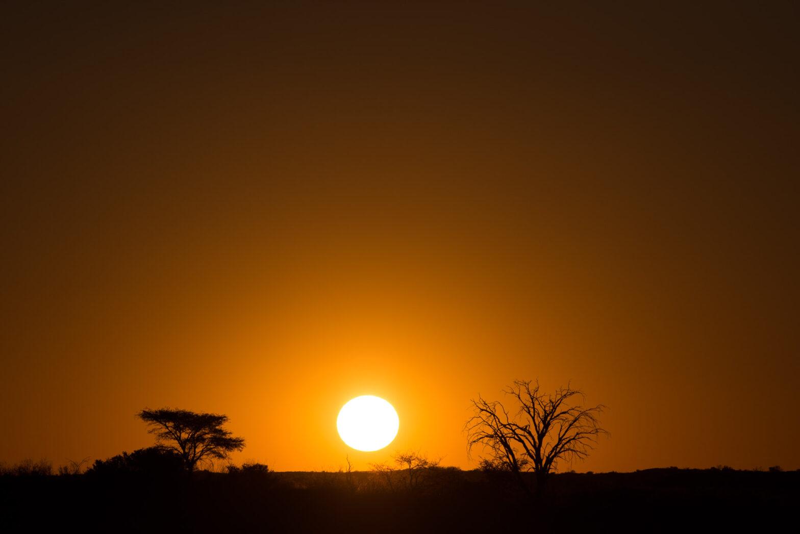 Sundowner at Bitterpan, Kalahari Transfrontier National Park